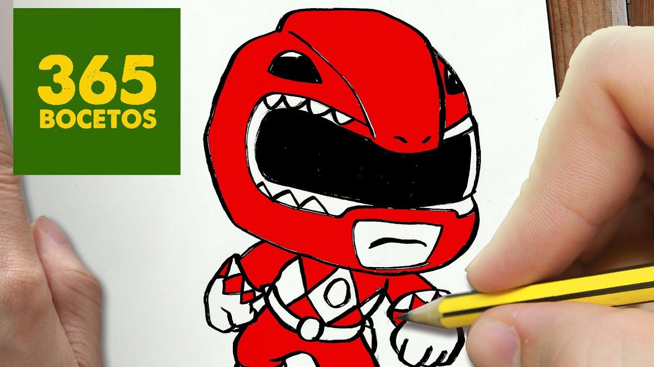 Como dibujar power ranger kawaii paso a paso dibujos - Power rangers a colorier ...