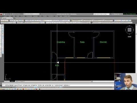 Auto Cad 2015 - Desenhando uma planta baixa.