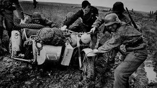 Немецкая техника застрявшая на дорогах СССР