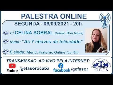 Assista: Palestra online - c/ CELINA SOBRAL (06/09/2021)