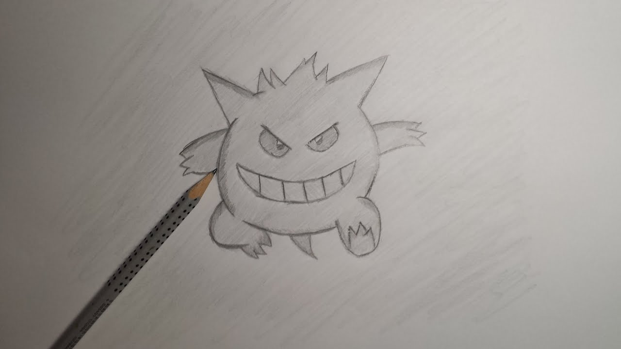 Pokemon gengar zeichnen malen f r anf nger youtube for Hase malen