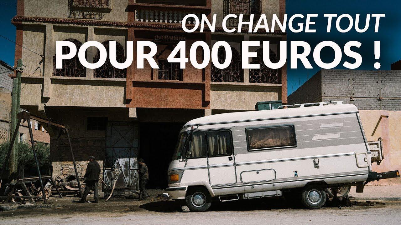47 pour 400 euros je transforme mon camping car en vehicule ultime pour voyager