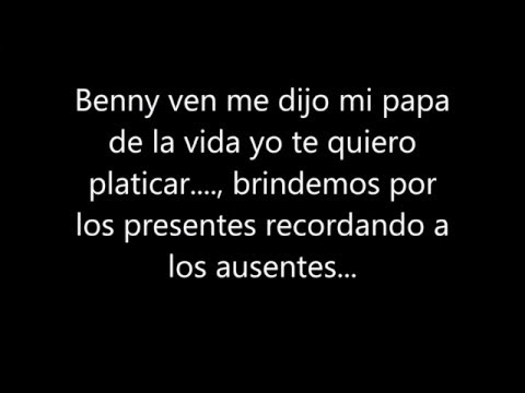 (Letra) El Benny - Fuerza de Tijuana