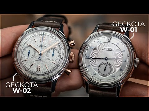 The Geckota Workshop Collection W-01 Jump Hour & W-02 Chronograph