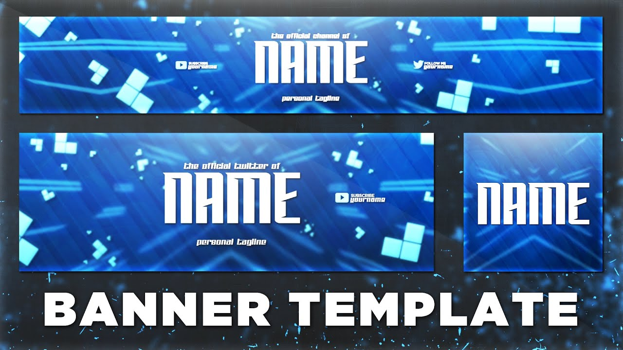 Sick YouTube Banner Template PSD (Photoshop CC + CS6) | FREE ...
