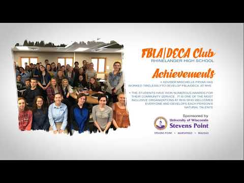 Rhinelander High School FBLA/DECA Club 2019