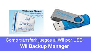Como Pasar Juegos del PC a la Wii  por memoria USB o Disco Duro con WBFS Manager