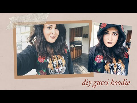 Attempting To DIY Taylor Swift's Gucci Hoodie From The LWYMMD Music Video | Sangeeta