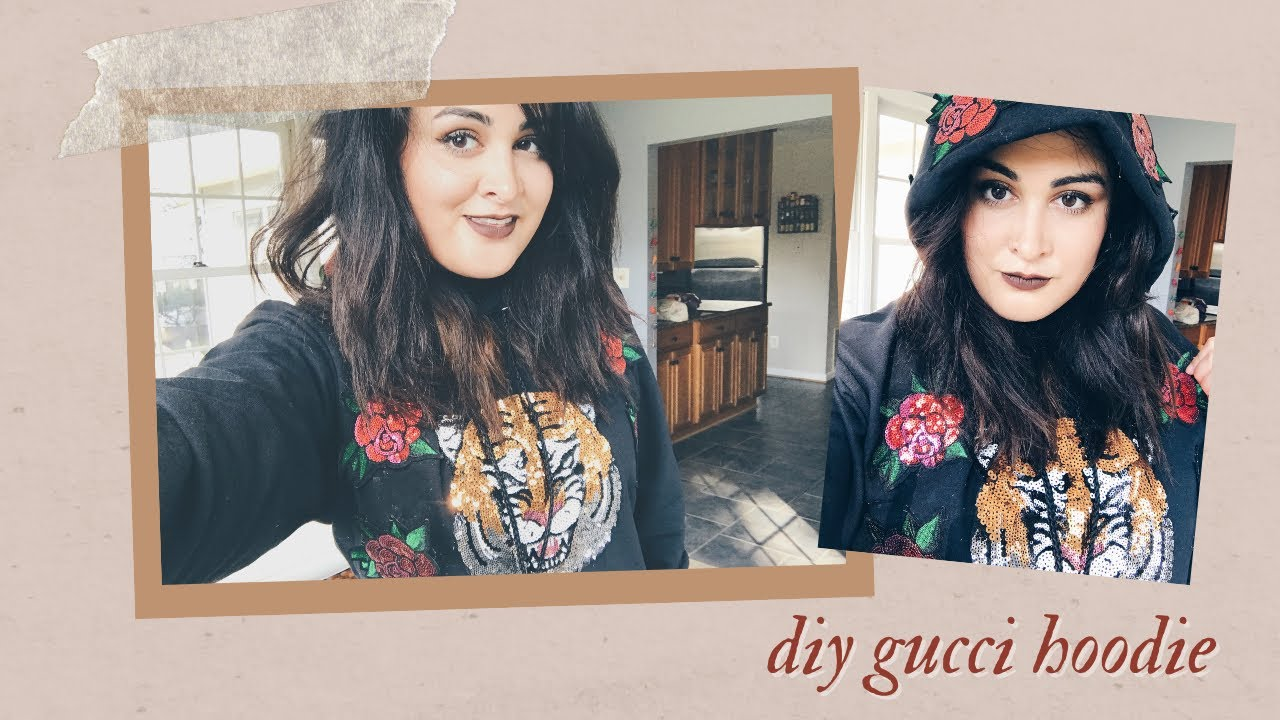 d57d6ae0676 Attempting to DIY Taylor Swift s Gucci Hoodie from the LWYMMD Music Video