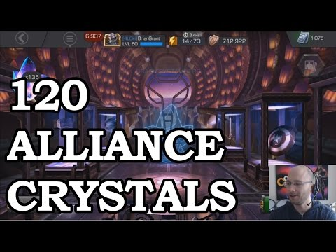 120 Alliance Crystals   Marvel Contest of Champions Crystal Opening