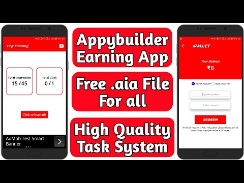 Appybuilder Earning app free .aia file | With High Quality T