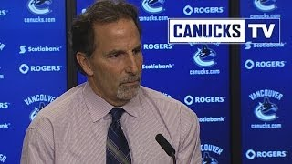 Repeat youtube video John Tortorella on Canucks/Flames line brawl  (Jan. 18, 2014)