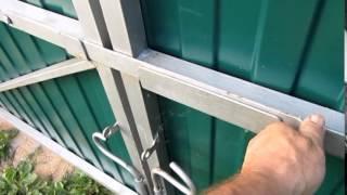 Маленькие хитрости. Ворота своими руками(Это видео создано с помощью видеоредактора YouTube (http://www.youtube.com/editor), 2014-12-20T18:07:18.000Z)