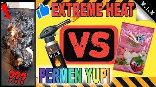 EXPERIMENT EXTREME HEAT VS MILK JELLY CANDY ( CRAZY !! ) NEWEST 2018