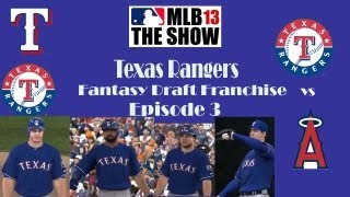 MLB 13 the Show- Texas Rangers Fantasy Draft Franchise Episode 3