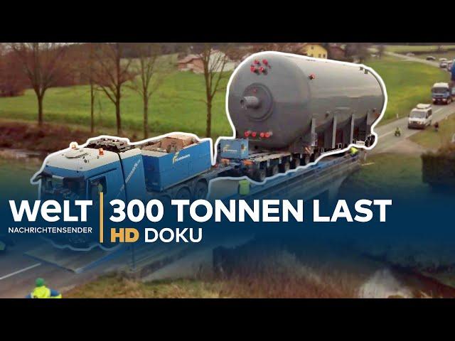 Schwertransport - 300 Tonnen Stahl auf Reisen   HD Doku