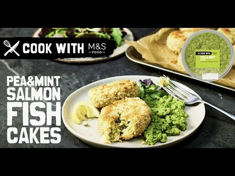 M&S   Cook with M&S ... Quick fishcakes with pea & mint mash