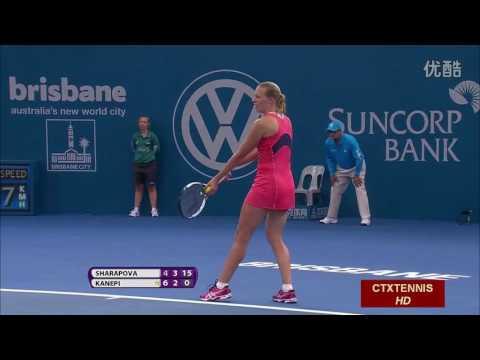 Maria Sharapova VS Kaia Kanepi Highlight Brisbane 2014 QF