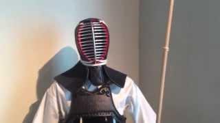 Kendo gear with naginata