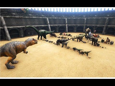 Giganotosaurus vs ALL OTHER Creatures in ARK (except Titanosaur and Deathworm) || Cantex