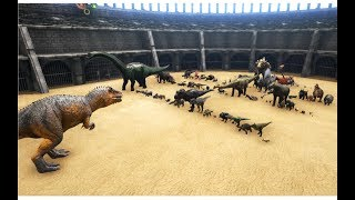 Giganotosaurus vs ALL OTHER Creatures in ARK (except Titanosaur and Deathworm) || Cantex