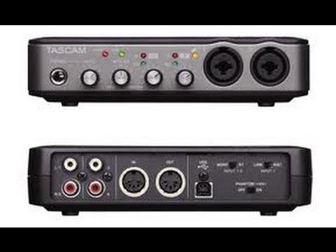 Tascam US 200 Recording Test - YouTube