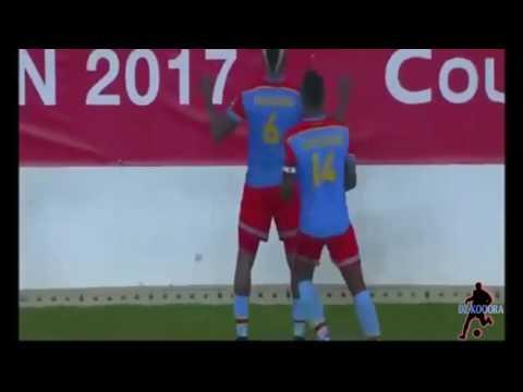 أهداف مباراة الكونغو الديمقراطية 1 - 0 المغرب من كأس أمم إفريقيا 2017 بالغابون