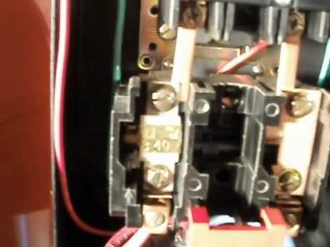 Square D motor starter wire connections - YouTube