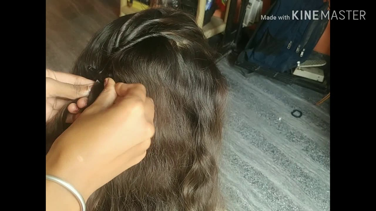 Simple Party Hairstyle for girls# simple and very much Hairstyle in kannada