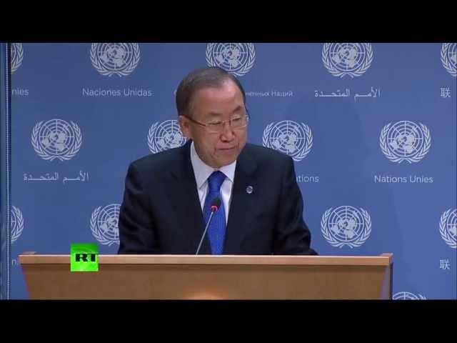 Пресс-конференция генерального секретаря ООН по Сирии