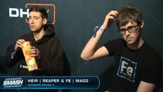 Fe | MacD Vs. HEIR | reaper - Winners Round 3 - Melee DHW15