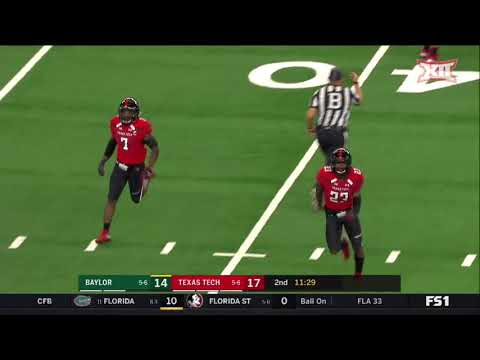 Baylor vs Texas Tech Football Highlights