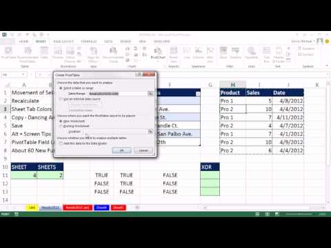 Excel 2013 Tips and Tricks