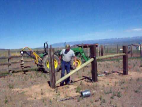Building an H brace and N brace for barb wire fence - YouTube
