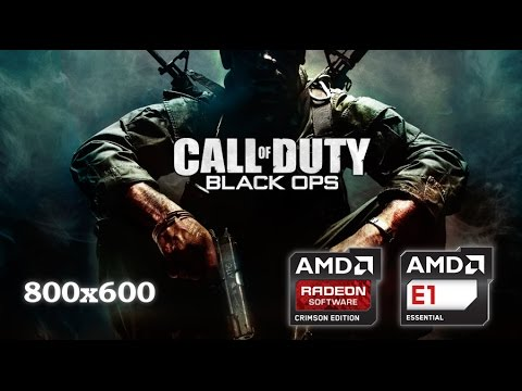 Call Of Duty Black Ops On Amd E1 2500 With Amd Radeon Hd 8200 In Low End Notebook Youtube