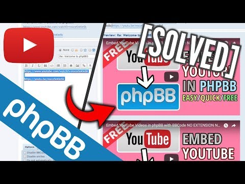 How to Embed YouTube in phpBB using Videos/Links Only!