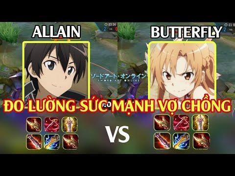 Đo Lường Sức Mạnh Tướng Cặp ALLAIN (kirito) vs BUT (asuna) - Cặp Đôi Liên quân mobile | POT Game TV