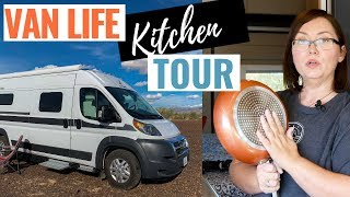 Hymer Aktiv Camper Van Kitchen How I Organize My Tiny Kitchen