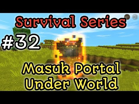 Masuk Nether Portal Terseram Di Mini World Block Art Survival Indonesia Episode 32 - 동영상
