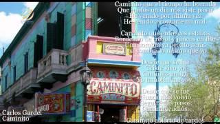 Carlos Gardel - Caminito (Letra-Lyrics)