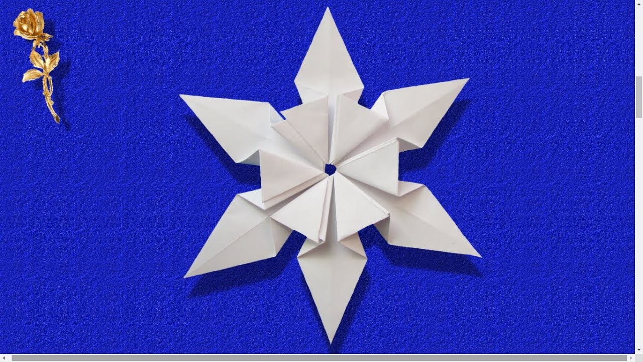 Origami Modulaire Flocon De Neige Tres Facile Youtube