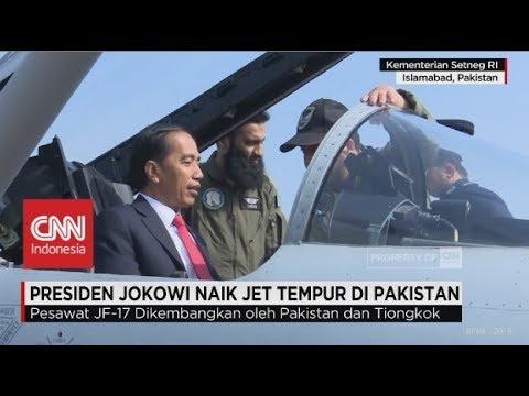 Presiden Jokowi 'Jajal' Pesawat Jet Tempur Pakistan JF-17