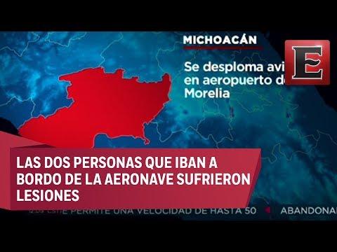 LO ÚLTIMO: Se desploma avioneta en el aeropuerto de Morelia