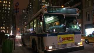 MTA New York City Bus 1996 Orion V 1306 (ex-647) On The Q32 @ 42nd Street & 5th Avenue