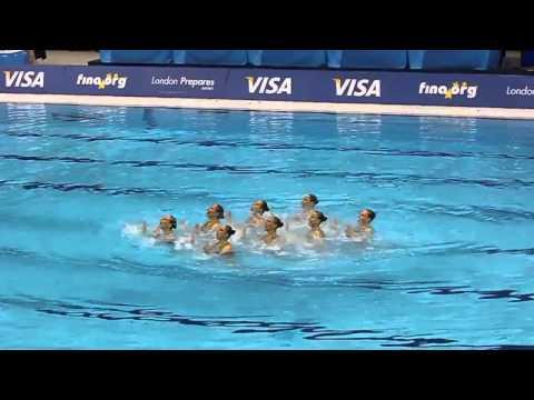 Синхронное плавание - Россия. Олимпийская программа 2012
