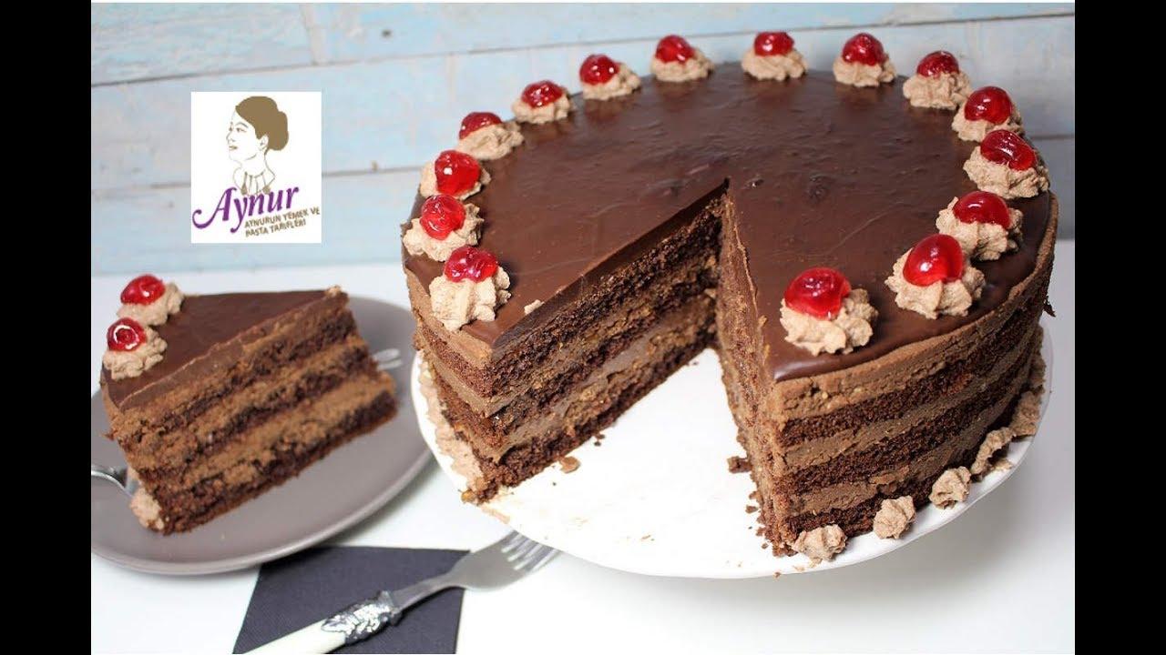 Çikolata Sevenler İçin bol Çikolatali nugatli Yaş Pasta Tarifi I Schokoladen Nougat Torte