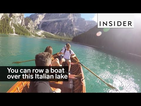 You Can Row A Boat Over This Insanely Blue Lake In Italy