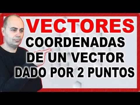 COORDENADAS De Un VECTOR Dado Por DOS PUNTOS | Geometría Analítica #2
