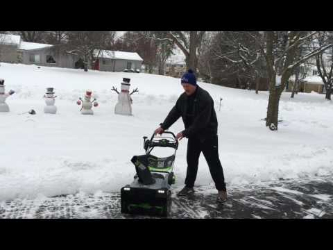My New Ego Battery Powered Snow Blower