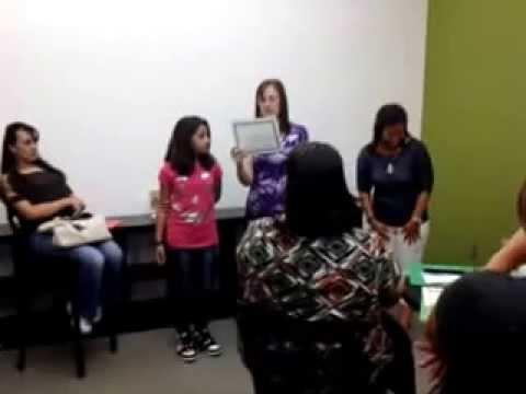 El premio de Ashley en la escuela Narcoossee Middle School, 17 de Mayo, 2013